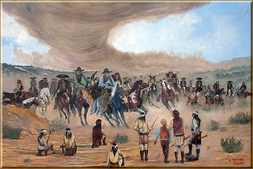 "Painting ""The Whirlwind"""